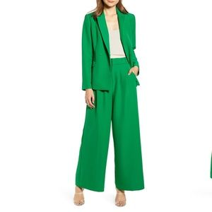 English Factory Double Breasted Wide Leg Suit